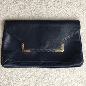 Handbags - Blue leather clutch